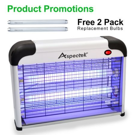 Aspectek UPGRADED 20W Electronic Bug Zapper, Insect Killer