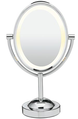 Double-Sided Lighted Makeup Mirror by Coniar