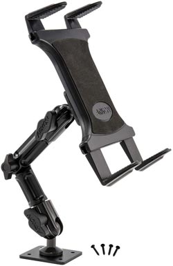 Tablet Wall Drill Base Mount with 8 inch Arm for iPad Air iPad by Arkon