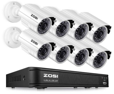 ZOSI 8 Channel Night Vision Surveillance Camera System