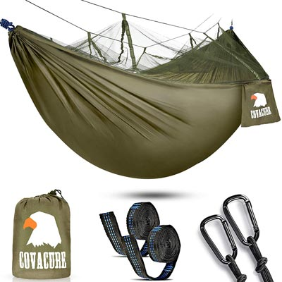 Portable Hammocks for Indoor, Outdoor, Hiking, Camping by Covacure