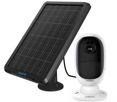 Wireless Rechargeable Security Camera for Outdoor Home Surveillance with Solar Panel by REOLINK