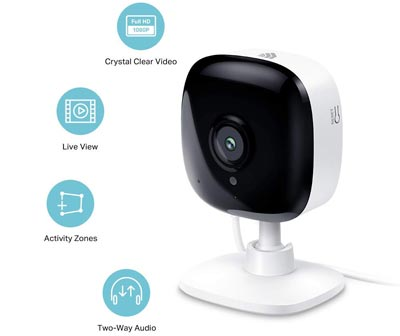 1080P HD Smart Wifi Security Camera, Night Vision by TP-Link