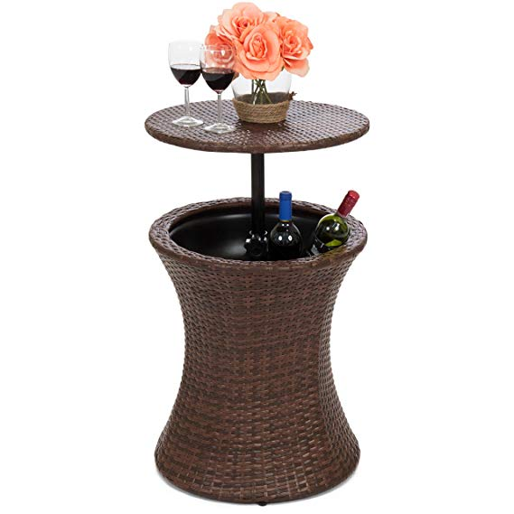 Best Choice Products Outdoor Patio Bar Cooler Table