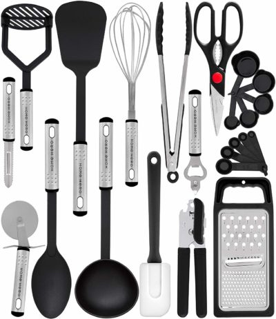 Home Hero Kitchen Utensil Set - 23 Nylon Cooking Utensils-Kitchen Utensil Sets