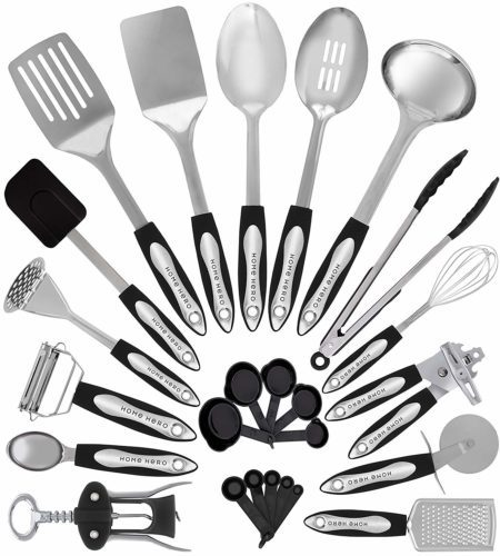 Home Hero Stainless Steel Kitchen Cooking Utensils