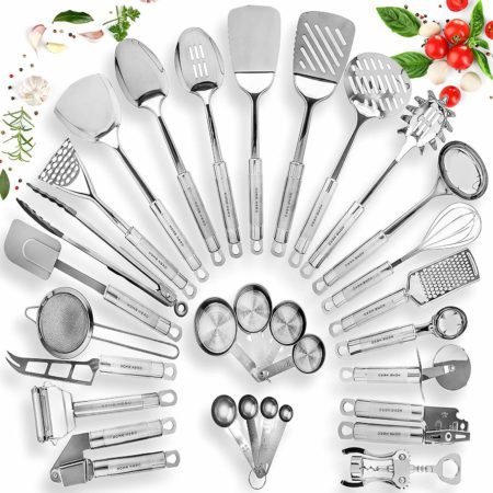 Home Hero Stainless Steel Kitchen Utensil Set