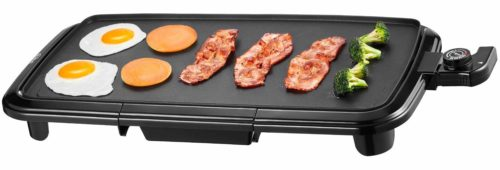 Kealive Griddle, Family-Sized Electric Grill Griddle 1500W with Drip Tray