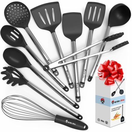 Kitchen Cooking Utensil Set - 10 Cooking Utensils