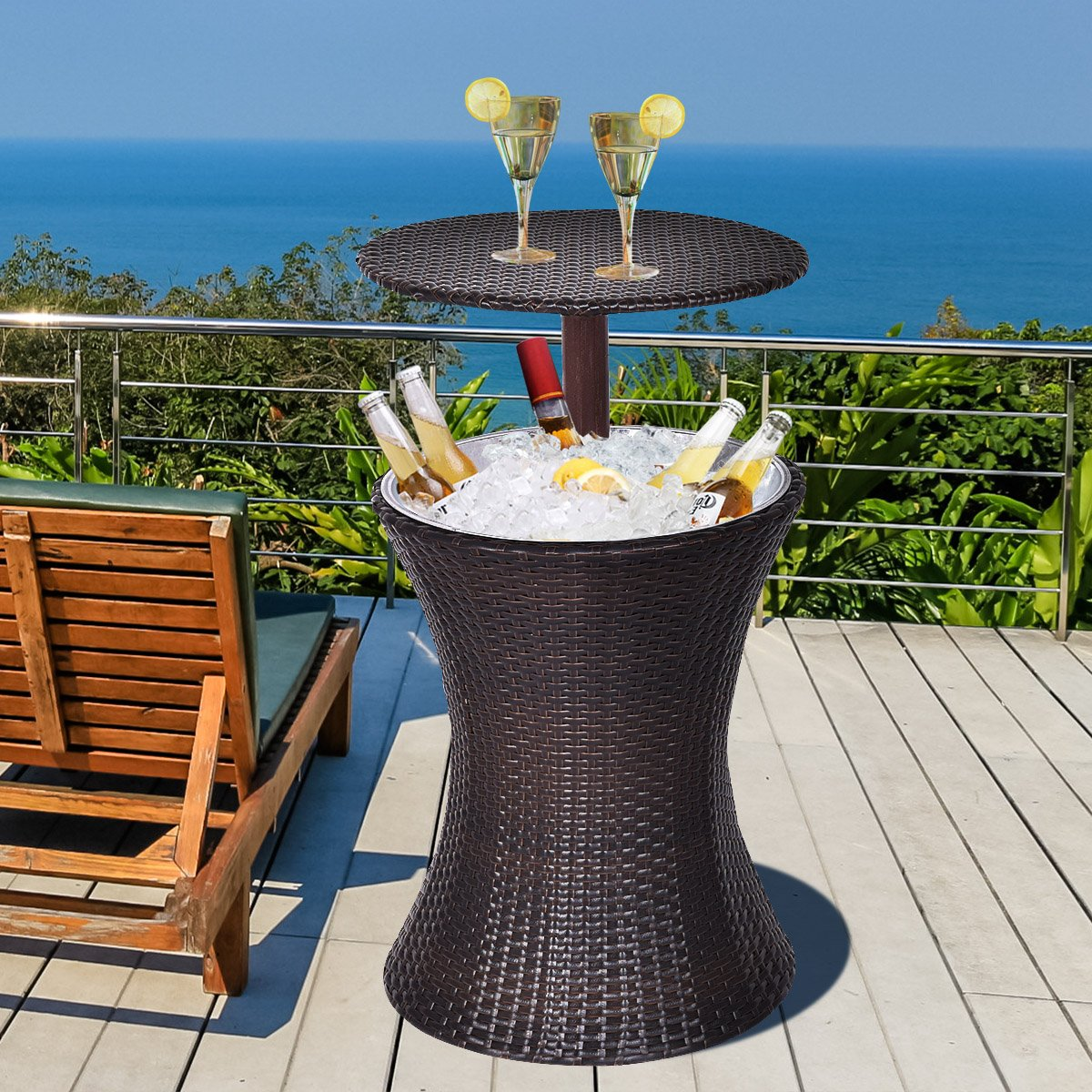 Patio Tables With Coolers
