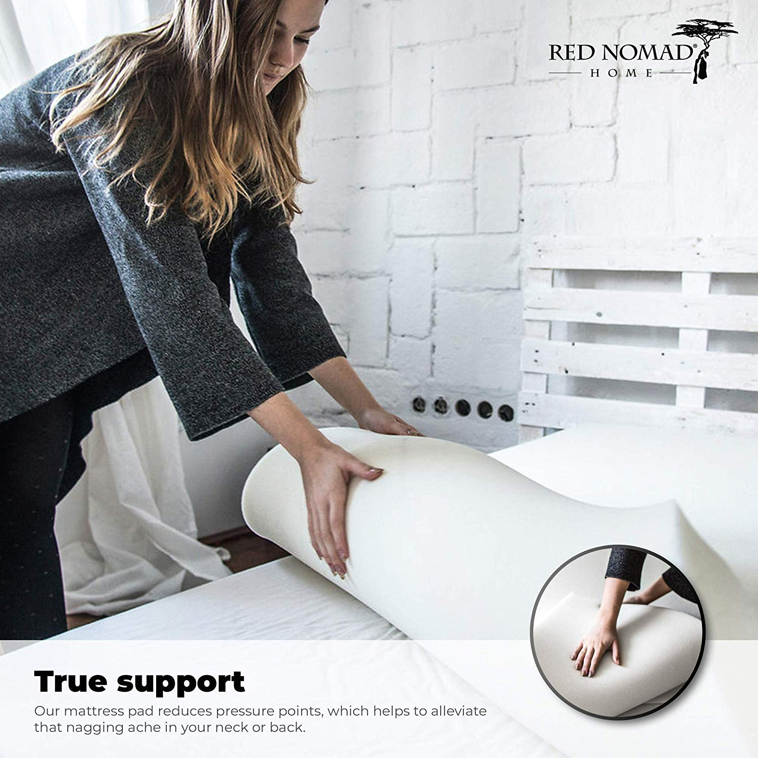 Red Nomad Memory Foam Mattress Visco Elastic Foam