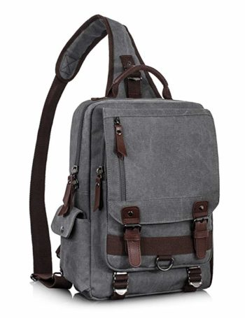 Roll over image to zoom in Leaper Leaper Retro Messenger Bag Canvas Shoulder Backpack Travel Rucksack Sling Bag