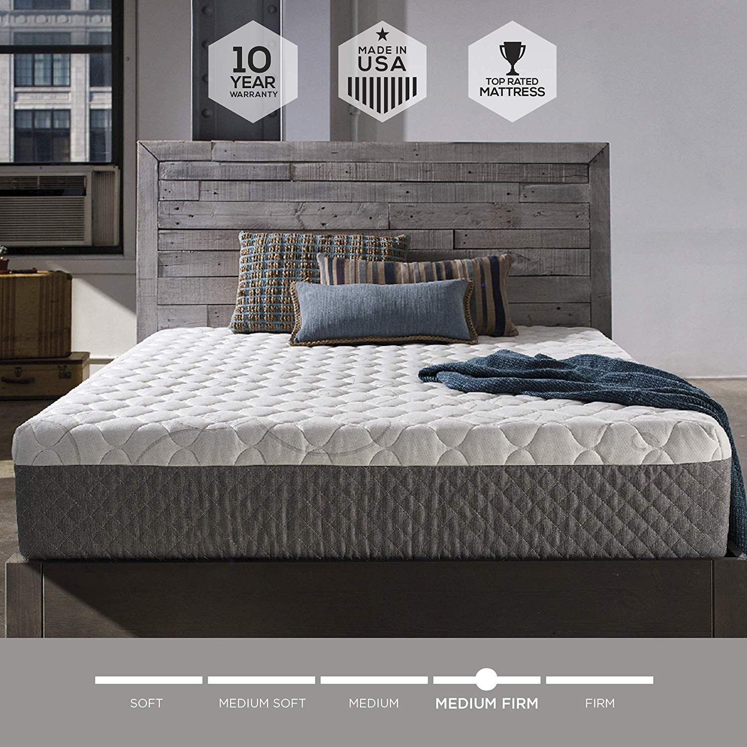 Sleep Innovations Memory Foam Mattress Infused with Cooling Gel