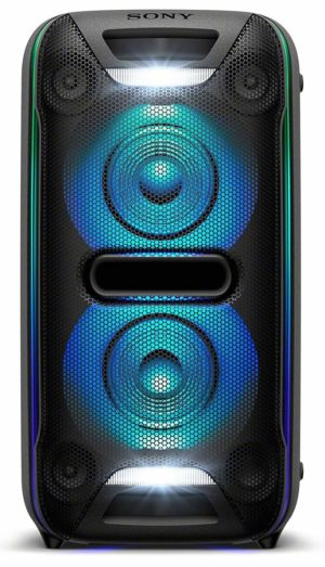Black Sony Portable Wireless Speaker with Bluetooth /& Speaker Lights