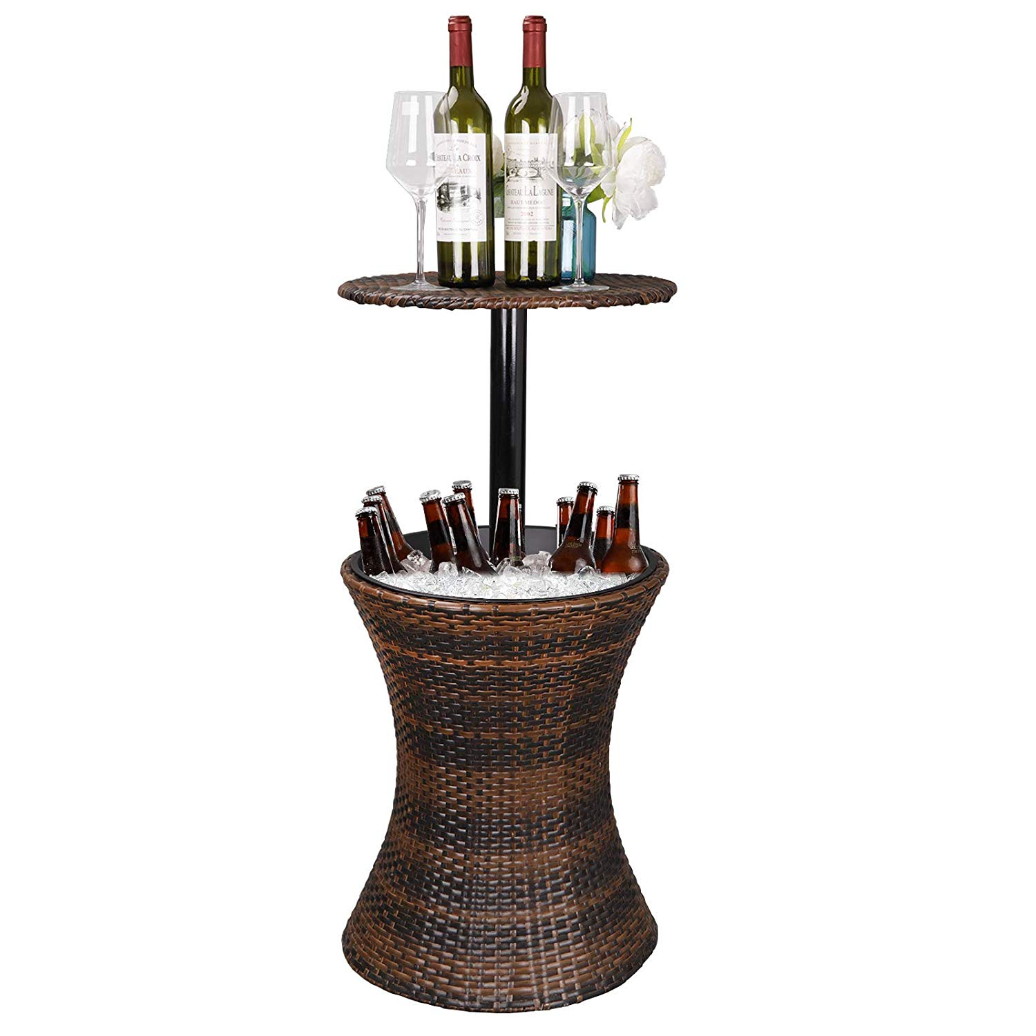 Zen style Adjustable Height Patio Bar Table