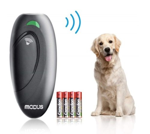 1.Modus Anti Barking Device, Ultrasonic Dog Bark Deterrent and 2 in 1 Dog Training Aid Control Range of 16.4 Ft wAnti-Static Wrist Strap LED Indicate 100%