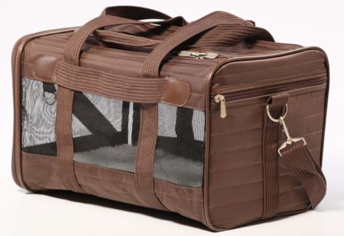 1.Sherpa Travel Original Deluxe Airline Approved Pet Carrier, Medium, Brown