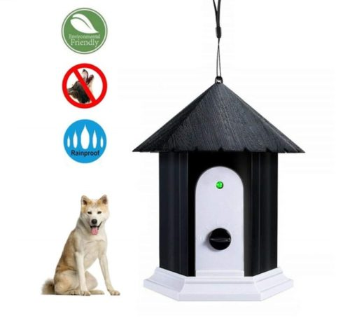 10.HoomDirect Anti Barking Device, Ultrasonic Sonic Bark Deterrents, Dog Training Stopping Barking Tool, Outdoor Waterproof Dog Bark Controller in Birdhouse Shape