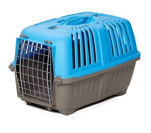 11.Pet Carrier Hard-Sided Dog Carrier, Cat Carrier, Small Animal Carrier in Blue Inside Dims 17.91L x 11.5W x 12H Suitable for Tiny Dog Breeds- Best Pet Carriers and Crates