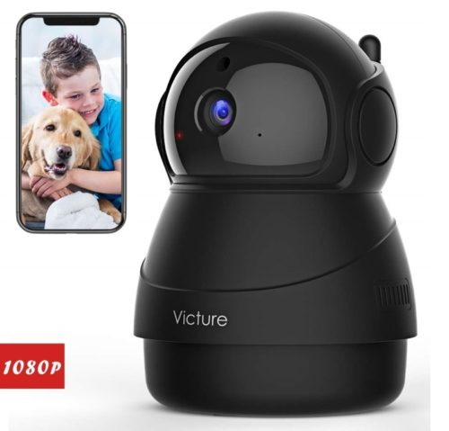 11.Victure 1080P FHD Pet Camera with WiFi IP Camera Indoor Wireless Security Camera Motion Detection Night Vision Home Surveillance Baby Elder Monitor with 2