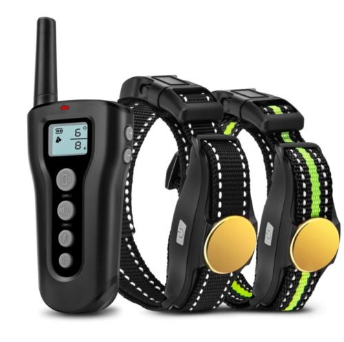 12.Bousnic Dog Training Collar 2 Dogs Upgraded 1000ft Remote Rechargeable Waterproof Electric Shock Collar with Beep Vibration Shock for Small Medium Large Dogs