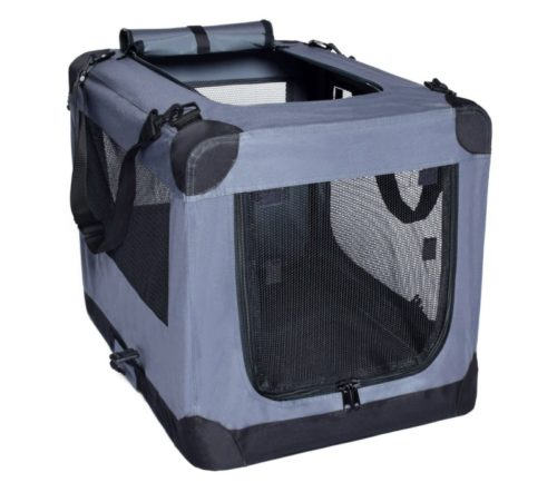 12.Dog Soft Crate 27 Inch Kennel for Pet Indoor Home & Outdoor Use - Soft Sided 3 Door Folding Travel Carrier with Straps - Arf Pets