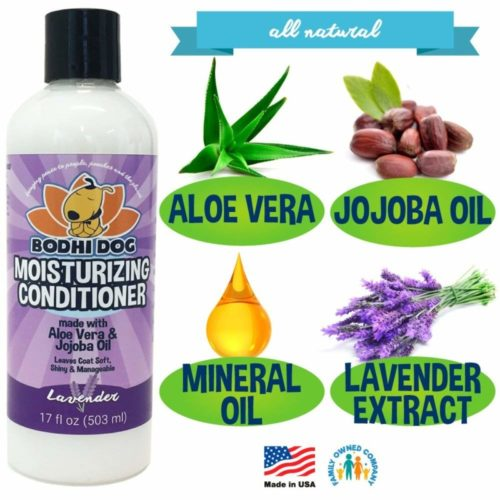12.New Natural Moisturizing Dog Conditioner Conditioning for Dogs, Cats and More Soothing Aloe Vera & Jojoba Oil Professional Quality - Made in The