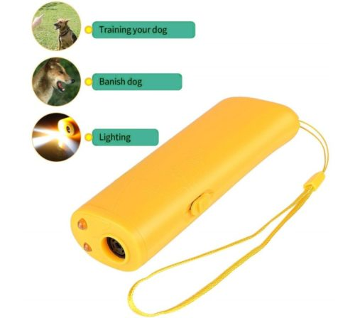 12.OYEFLY Handheld Dog Repellent Trainer, 3 in 1 Anti Barking Device with LED Flashlight, Ultrasonic Dog Deterrent and Bark Stopper Dog Trainer Devices