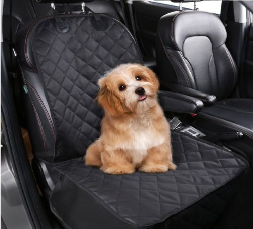 12.Pedy Pet Front Seat Cover for Cars, Dog Car Seat Cover, Nonslip Rubber Backing with Anchors, Black