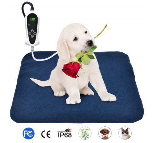 13.BohoFarm PVC Heating Pad for Dogs Heated Pet Bed Mats 1818inch Electric Cat Heating Pad Waterproof Adjustable Chew Resistant Steel Cord