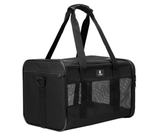 13.X-ZONE PET Airline Approved Soft-Sided Pet Travel Carrier for Dogs and Cats, Black