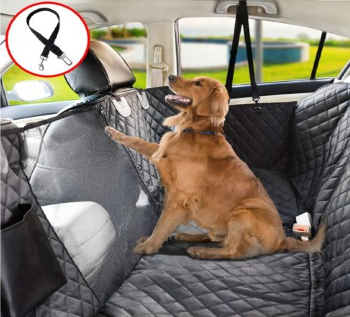 14.Vailge Dog Seat Cover for Back Seat, 100% Waterproof Dog Car Seat Covers with Mesh Window, Scratch Proof Nonslip Dog Car Hammock, Car Seat Covers for Dogs