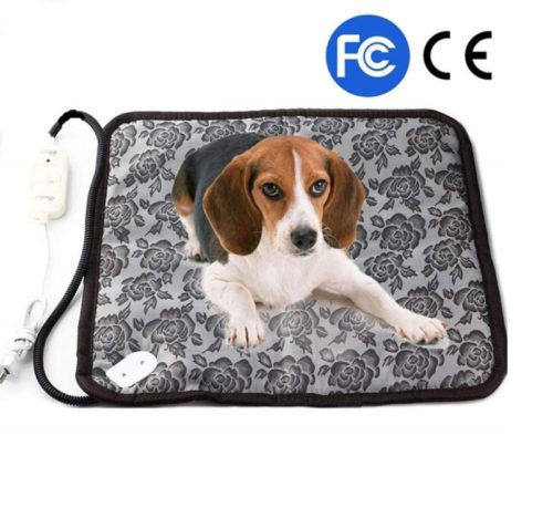 14.zswell Pet Electric Heating Pad for Dogs and Cats Waterproof Adjustable Anti-bite Steel Cord Dog Warm Bed Mat Heated Suitable for Pets Beds Pets Blankets...