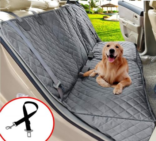 15.Henkelion Dog Seat Cover for Back Seat, Dog Car Seat Covers for Dogs Pets, Car Hammock for Dogs, Bench Rear Seat Cover for Dogs, Waterproof Protective Dog.
