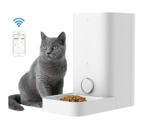 15.PETKIT Automatic Cat Feeder, 2.8 Liter Auto Pet Feeder Dispenser Special for Cat Doggy, Wi-Fi Enabled App for Android, iOS, Timer Programmable, Food Never
