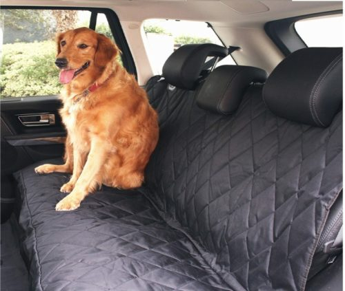 2.BarksBar Pet Car Seat Cover with Seat Anchors for Cars, Trucks and SUV, Water Proof and Non-Slip Backing Regular, Black