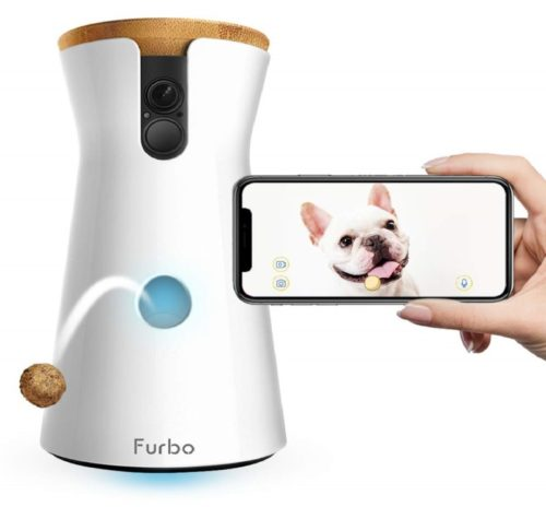 2.Furbo Dog Camera Treat Tossing, Full HD Wifi Pet Camera and 2-Way Audio, Designed for Dogs, Compatible with Alexa (As Seen On Ellen)