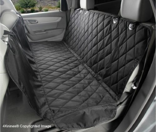 3.4Knines Dog Seat Cover with Hammock for Cars, Small Trucks, and SUVs - Black Regular - USA Based Company