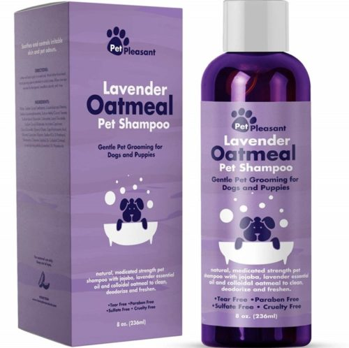3.Colloidal Oatmeal Dog Shampoo with Pure Lavender Essential Oils - No Tear Shampoo for Dry Itchy Skin Relief - Pet Odor Eliminator - Grooming Shampoo- Best Natural Conditioners and Shampoos