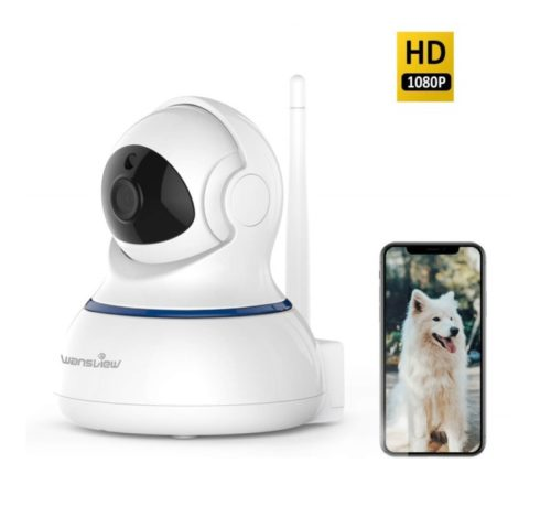 3.Wansview Wireless 1080P Security Camera, WiFi Home Surveillance IP Camera for Baby Elder Pet Nanny Monitor, Pan Tilt, Two-Way Audio & Night Vision SD