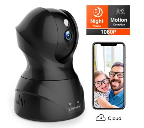 4.Security Camera 1080P WiFi Dog Pet Camera - KAMTRON Wireless Indoor Pan Tilt Zoom Home Camera Baby Monitor IP Camera with Motion Detection Two-Way Audio,
