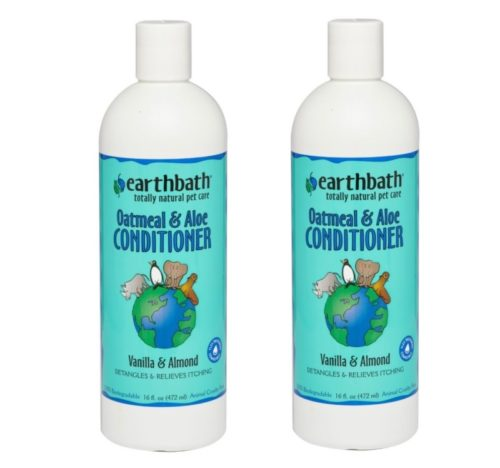 5.Earthbath All Natural Oatmeal and Aloe Dog Cat Moisturising Conditioner 16 ounce (2 Pack)