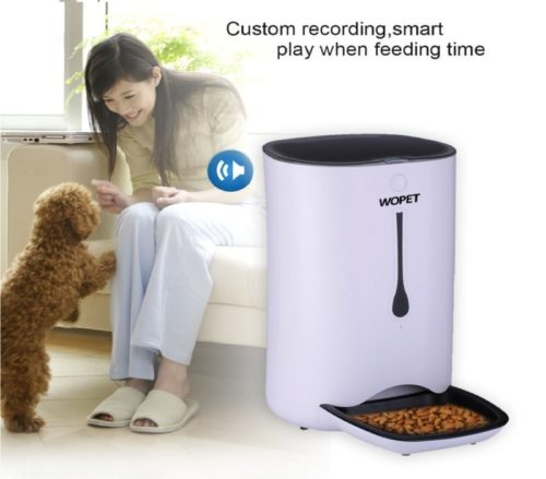 5.WOpet 7L Automatic Pet Feeder Food Dispenser for Cats and Dogs Features Distribution Alarms, Portion Control, Voice Recorder, Programmable Timer for up to.