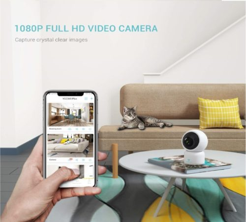 5.heimvision HM203 1080P Security Camera with Smart Night Vision Ptz Two-Way Audio, 2.4GHz Wireless Home Surveillance IP Camera for Baby Elder Pet Nanny.