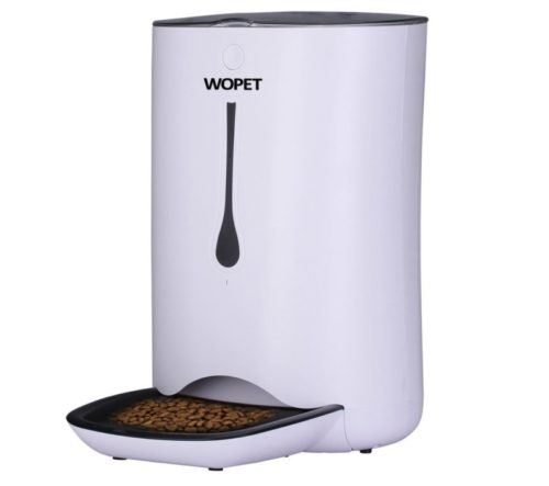6.WOpet 7L Automatic Pet Feeder Food Dispenser for Cats and Dogs-Features Distribution Alarms, Portion Control, Voice Recorder, Programmable Timer for up to