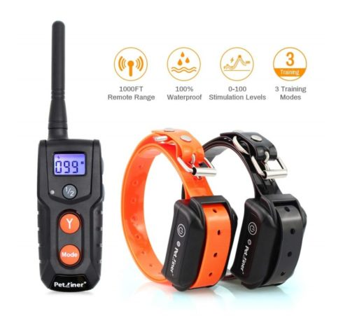 7.Dog Training Collars with Remote - Shock Collar for 2 Dogs, Small, Medium, Large, Rechargeable 100% Waterproof E-Collar with 3 Training Correction Modes