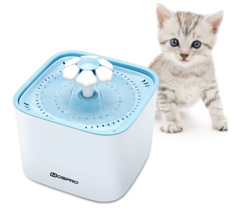 7.Pet Fountain Cat Water Dispenser - Healthy and Hygienic Drinking Fountain Super Quiet Flower Automatic Electric Water Bowl with 2 Replacement Filters for...