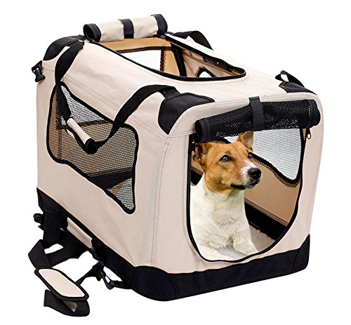 8.2PET Foldable Dog Crate - Soft, Easy to Fold & Carry Dog Crate for Indoor & Outdoor Use - Comfy Dog Home & Dog Travel Crate - Strong Steel Frame