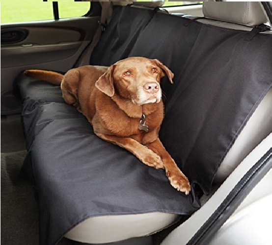 8.AmazonBasics Waterproof Car Back Bench Seat Cover Protector for Pets - 56 x 47, Black