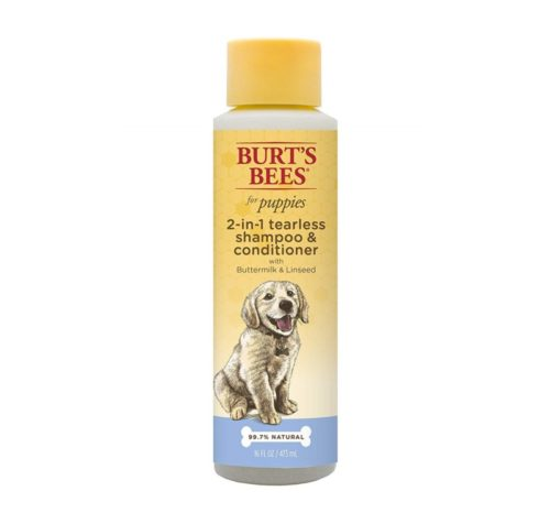 8.Burt's Bees for Puppies Tearless 2 in 1 Shampoo and Conditioner with Buttermilk and Linseed Oil Dog Shampoo, 16 Ounces